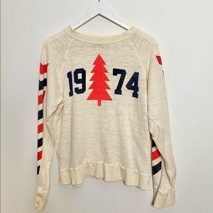 Wildfox graphic raglan sweatshirt in size M